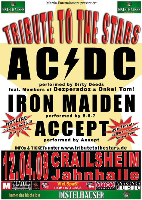 Tribute To The Stars II - 08.12.07 Crailsheim/Jahnhalle. VVK-Tickets unter www.martinentertainment.de