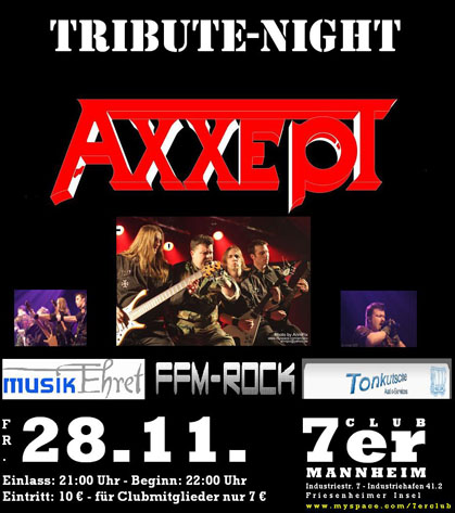 Axxept, The No.1 Accept Tributeband, Booking, Martin Entertainment, www.axxept.com, www.martinentertainment.de